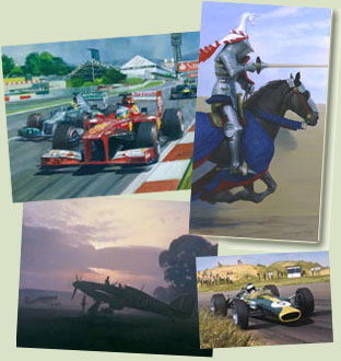 Enter Studio 88 Online Gallery - Motorsport, Aviation Medieval and Military Art - paintings, prints and cards by Michael and Graham Turner