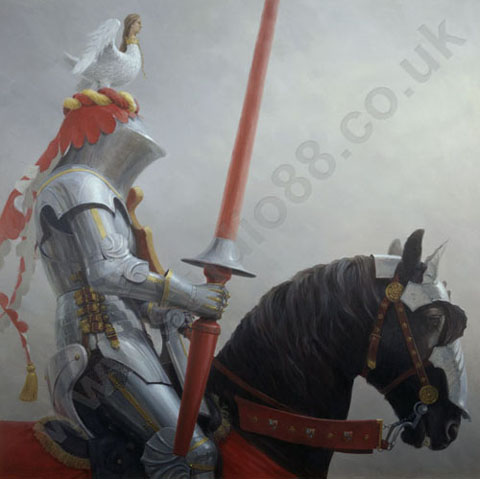 Medieval jousting art, paintings, prints and cards by ...