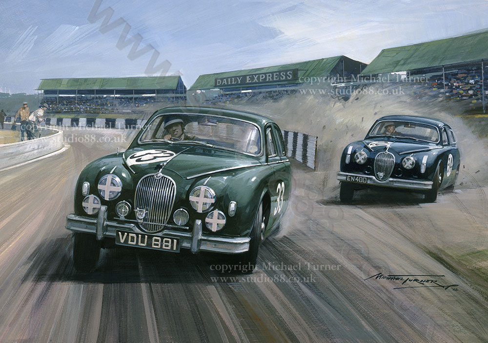 Saloon Car Racing Car Race by Michael Turner