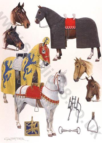 El caballo de guerra medieval. Evolución de su equipamiento y armadura Large_orig_13c_c