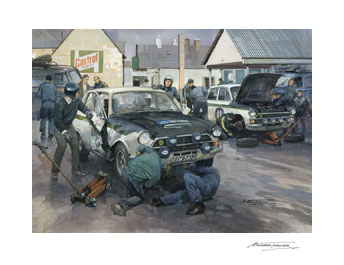 1966 RAC Rally Jim Clark Lotus Cortina