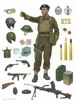 World War 2 British Tank Crewman paintings by Graham Turner